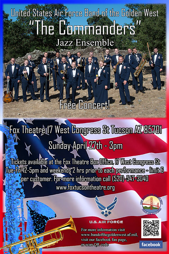 "US Air Force ""Commanders Jazz Ensemble"" @ Fox Tucson Theatre 