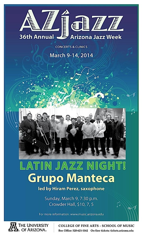 AzJazz Week Concert #1: Latin Jazz Night @ U of A School of Music, Crowder Hall | Tucson | Arizona | United States
