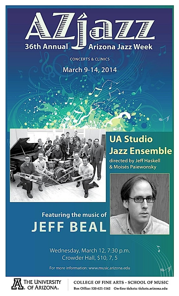 AzJazz Week Concert #4: UA Studio Jazz Ensemble @ U of A School of Music, Crowder Hall | Tucson | Arizona | United States