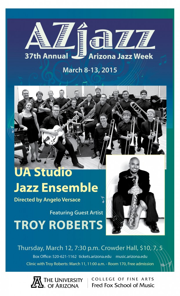 AZ Jazz Week: Studio Jazz Ensemble @ Crowder Hall | Tucson | Arizona | United States